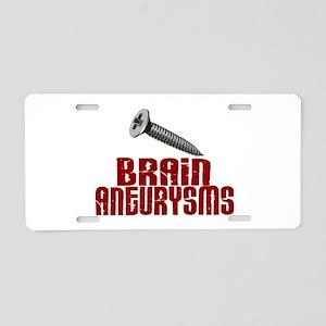Screw Brain Aneurysms Aluminum License Plate