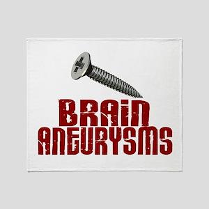 Screw Brain Aneurysms Throw Blanket