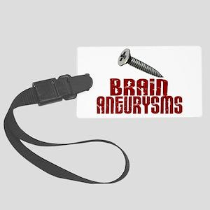 Screw Brain Aneurysms Large Luggage Tag