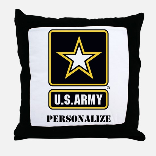 Personalize US Army Throw Pillow
