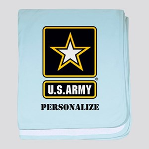 Personalize US Army baby blanket