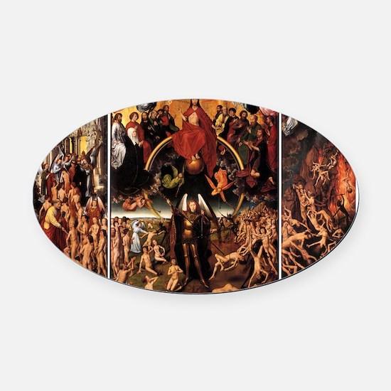 Hans Memling - The Last Judgment - Circa 1470 Oval