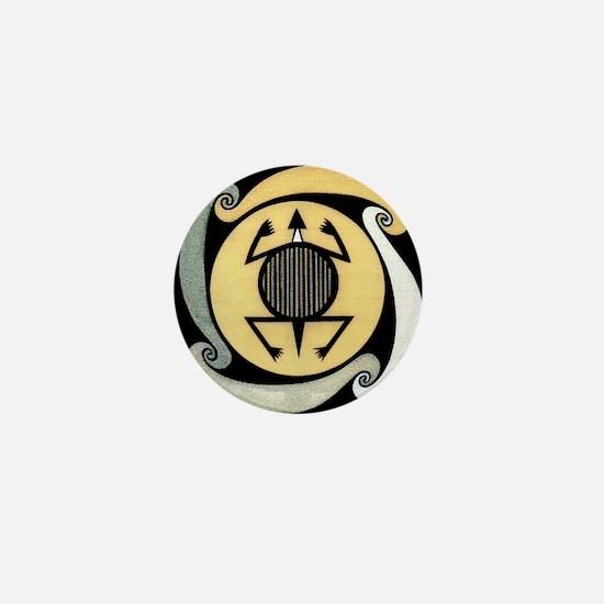 MIMBRES WATER TURTLE BOWL DESIGN Mini Button
