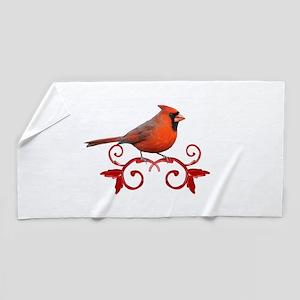 Beautiful Cardinal Beach Towel