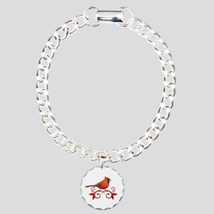 Beautiful Cardinal Charm Bracelet, One Charm