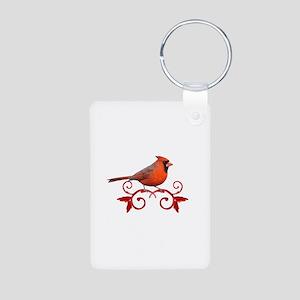 Beautiful Cardinal Aluminum Photo Keychain