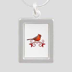 Beautiful Cardinal Silver Portrait Necklace