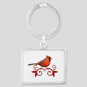 Beautiful Cardinal Landscape Keychain