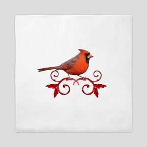 Beautiful Cardinal Queen Duvet