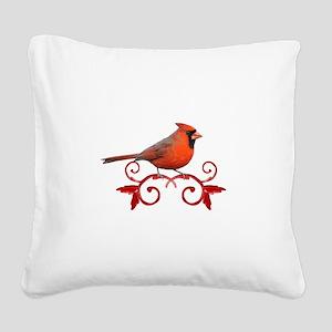 Beautiful Cardinal Square Canvas Pillow