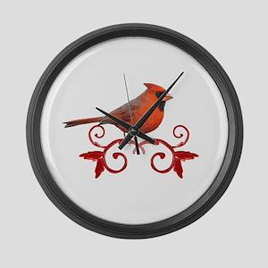 Beautiful Cardinal Large Wall Clock