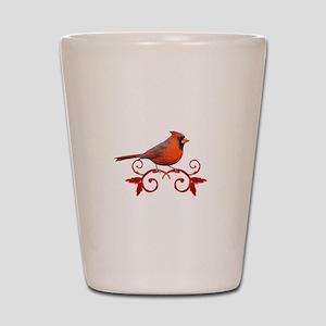 Beautiful Cardinal Shot Glass