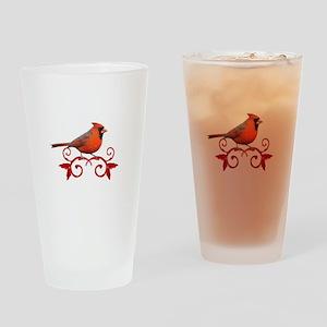 Beautiful Cardinal Drinking Glass