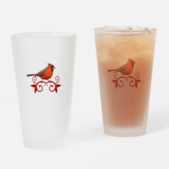 Beautiful Cardinal Drinking Glass