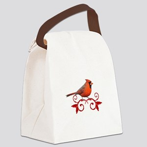 Beautiful Cardinal Canvas Lunch Bag