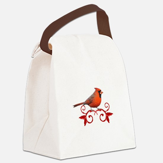 Beautiful Cardinal Canvas Lunch Bag