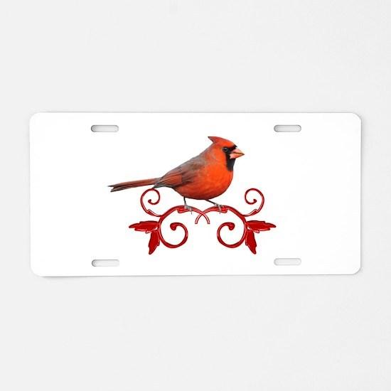 Beautiful Cardinal Aluminum License Plate