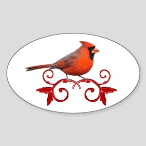 Beautiful Cardinal Sticker (Oval)