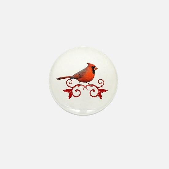 Beautiful Cardinal Mini Button