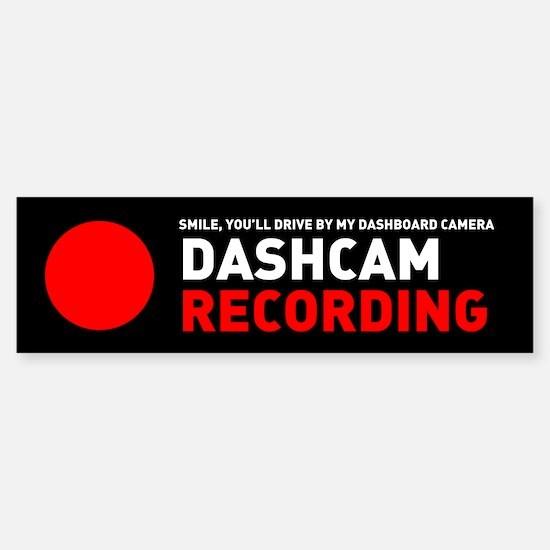 Dashcam Recording Bumper Bumper Bumper Sticker
