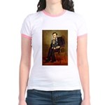 Lincoln & his Cavalier (BT) Jr. Ringer T-Shirt