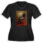 Lincoln & his Cavalier (BT) Women's Plus Size V-Ne