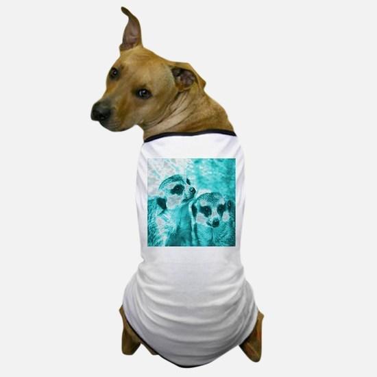 Meerkats, POPart, aqua Dog T-Shirt