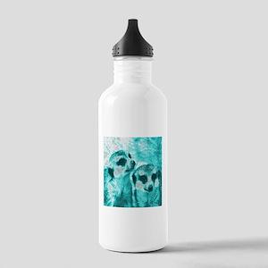 Meerkats, POPart, aqua Water Bottle