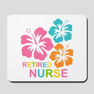 Hibiscus Retired Nurse Mousepad