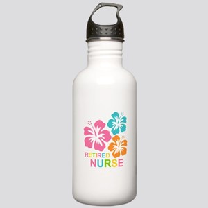 Hibiscus Retired Nurse Stainless Water Bottle 1.0L