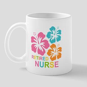 Hibiscus Retired Nurse Mug