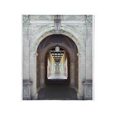 Corridor of Pillars Throw Blanket
