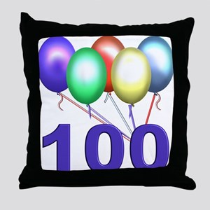 100 Throw Pillow