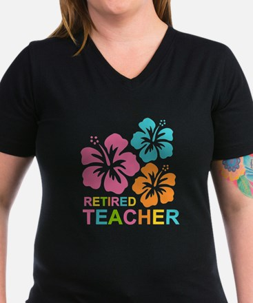 Hibiscus Retired Teach Shirt
