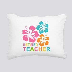 Hibiscus Retired Teacher Rectangular Canvas Pillow