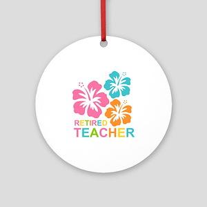 Hibiscus Retired Teacher Ornament (Round)