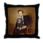 Lincoln & his Cavalier (BT) Throw Pillow