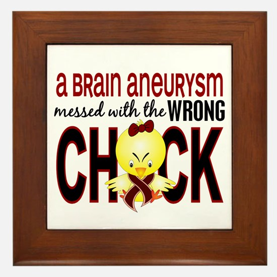 Brain Aneurysm Wrong Chick 1 Framed Tile