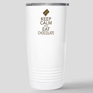 Keep Calm and Eat chocolate Travel Mug