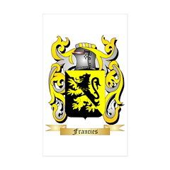 Francies Sticker (Rectangle 50 pk)