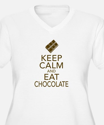 Keep Calm and Eat chocolate Plus Size T-Shirt