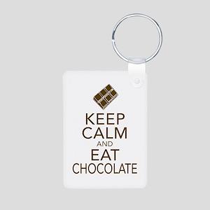 Keep Calm and Eat chocolate Keychains