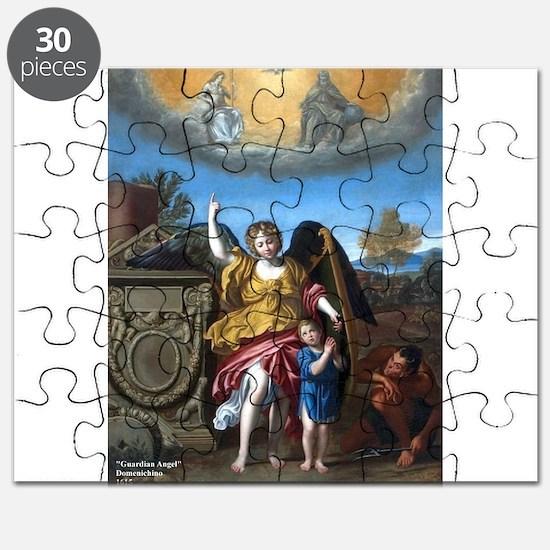 Domenichino - Guardian Angel - 1615 Puzzle