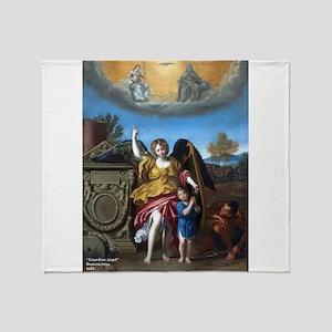 Domenichino - Guardian Angel - 1615 Throw Blanket