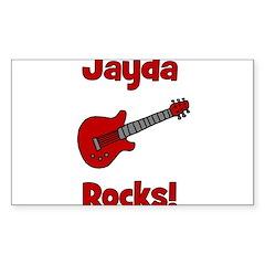 Guitar - Jayda Rocks! Rectangle Decal