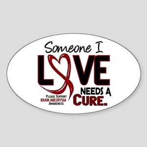 Brain Aneurysm Needs a Cure 2 Sticker (Oval)