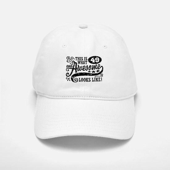 49th Birthday Baseball Baseball Cap