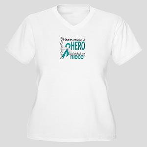 Ovarian Cancer He Women's Plus Size V-Neck T-Shirt