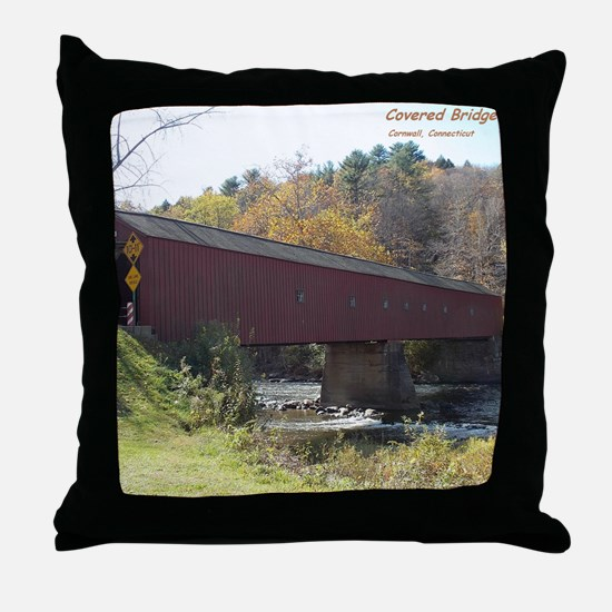 Cornwall Covered Bridge Throw Pillow
