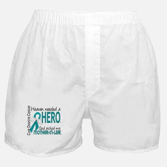 Ovarian Cancer Heaven Needed Hero 1.1 Boxer Shorts